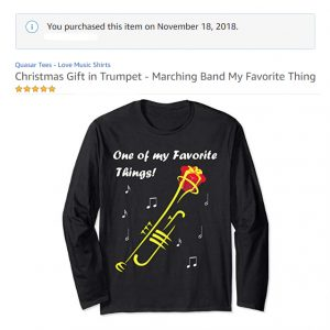 Christmas Gift in Trumpet T-Shirt