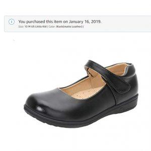 WUIWUIYU Girls Mary Jane Shoes