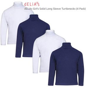 dELiAs Girl's Solid Long Sleeve Turtlenecks Thumb