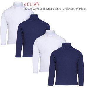 dELiAs Girl's Solid Long Sleeve Turtlenecks Thumb